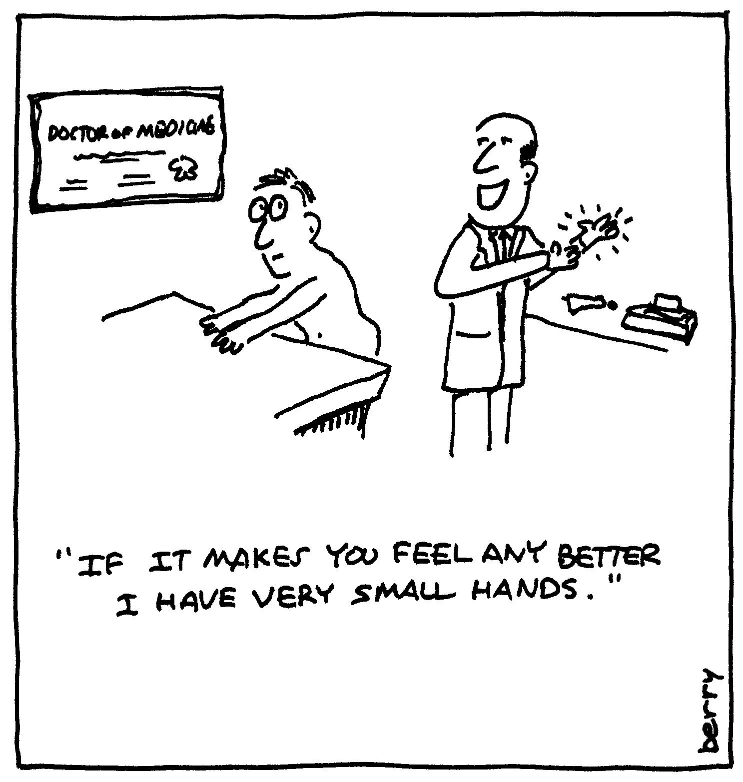 berry cartoons: prostate exam cartoon