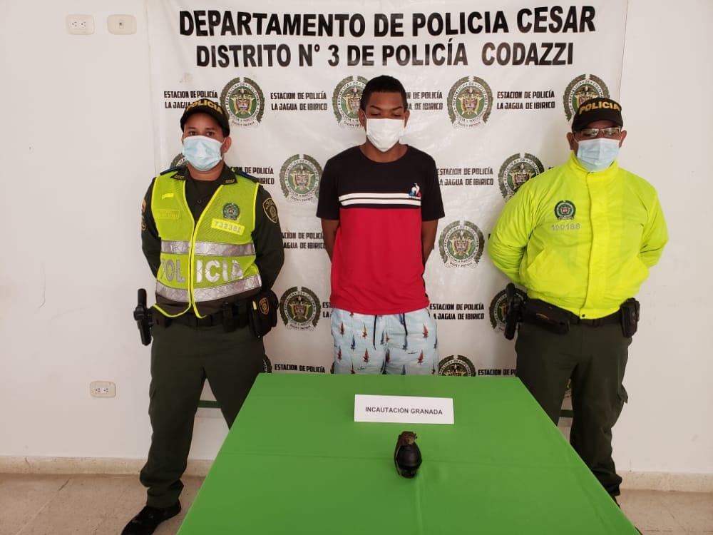 hoyennoticia.com, Con una granada cayó 'Caín' en La Jagua de Ibirico