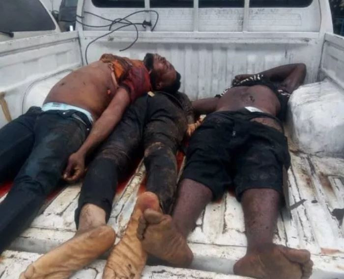 Police Gun Down 3 Armed Robbers In A Failed Bank Robbery In Port Harcourt - Photos