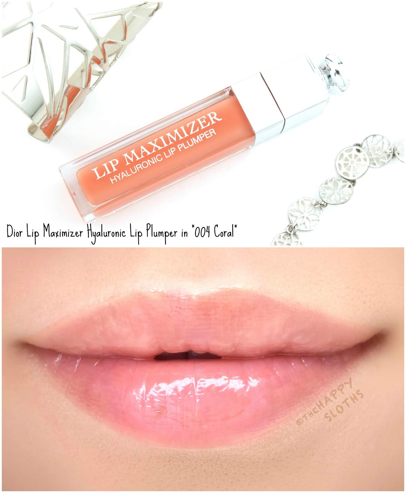 "Dior | Lip Maximizer Hyaluronic Lip Plumper in ""004 Coral"": Review and Swatches"