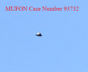 Mufon case number 93732 showing an excellent Ufo.