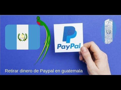 Como retirar el saldo de Paypal en Guatemala