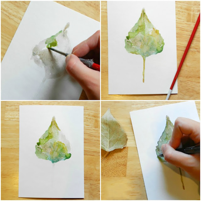 Steps to Painting a Leaf