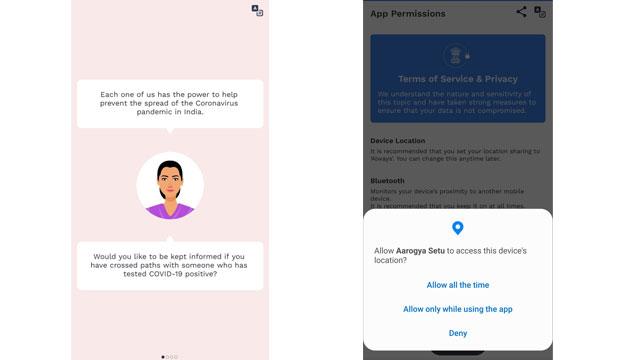 AarogyaSetu App permission