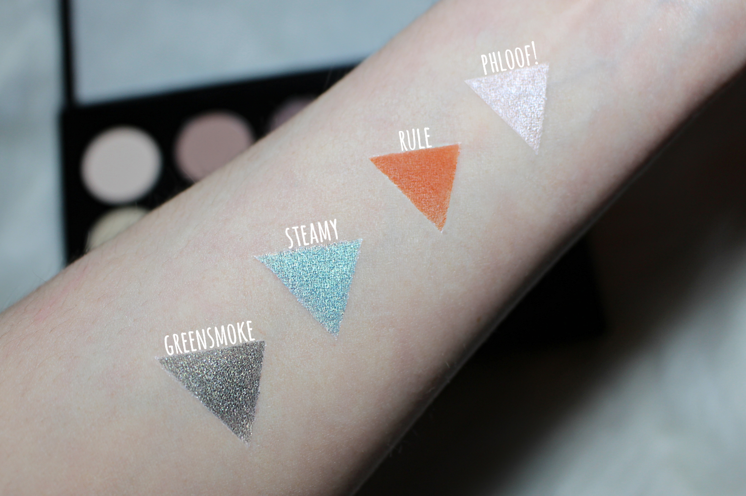 mac single eyeshadow swatches on the skin