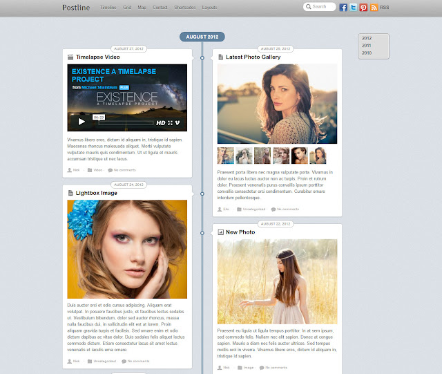PostLine- Facebook Inspired Wordpress Timeline Theme