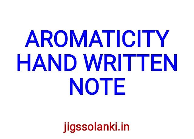 AROMATICITY HAND WRITTEN NOTE