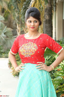 Lucky Shree Looks super cute in Bright Red Green Anarkali Dress ~  Exclusive 025.JPG