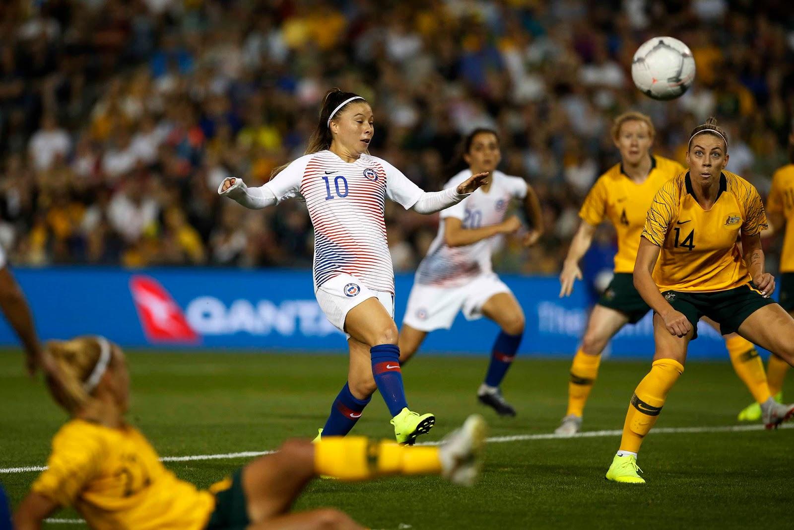 Australia y Chile en partido amistoso femenino, 13 de noviembre de 2018