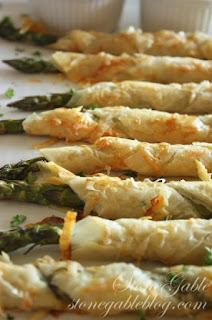 phyllo wrapped asparagus vegetarian asparagus recipe