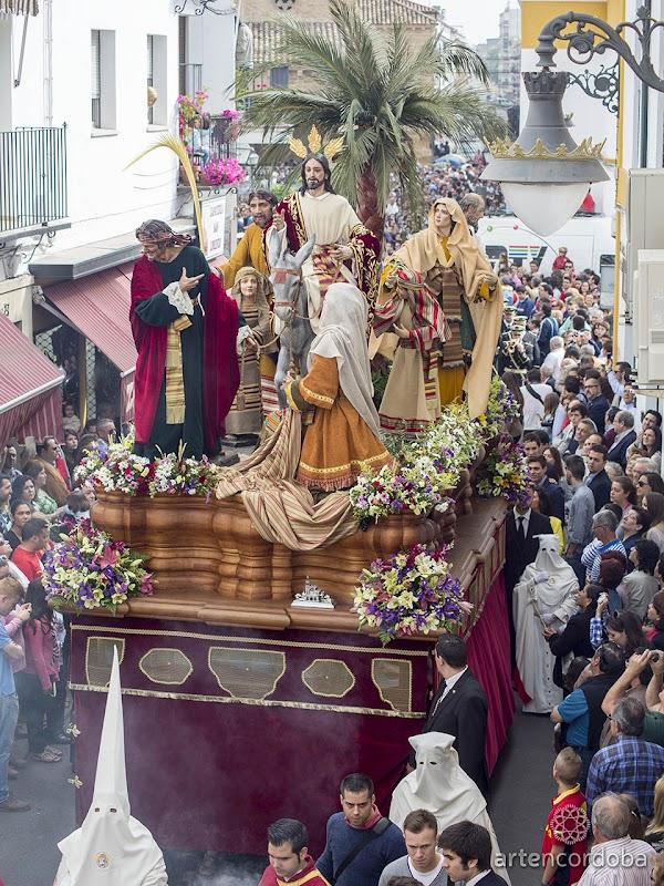 Itinerarios y horarios del Domingo de Ramos de 2019 en la Semana Santa de Córdoba