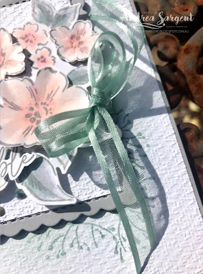 A delicate Stampin' Up! Hand Penned floral card featuring Smoky Slate created by Andrea Sargent in Australia.