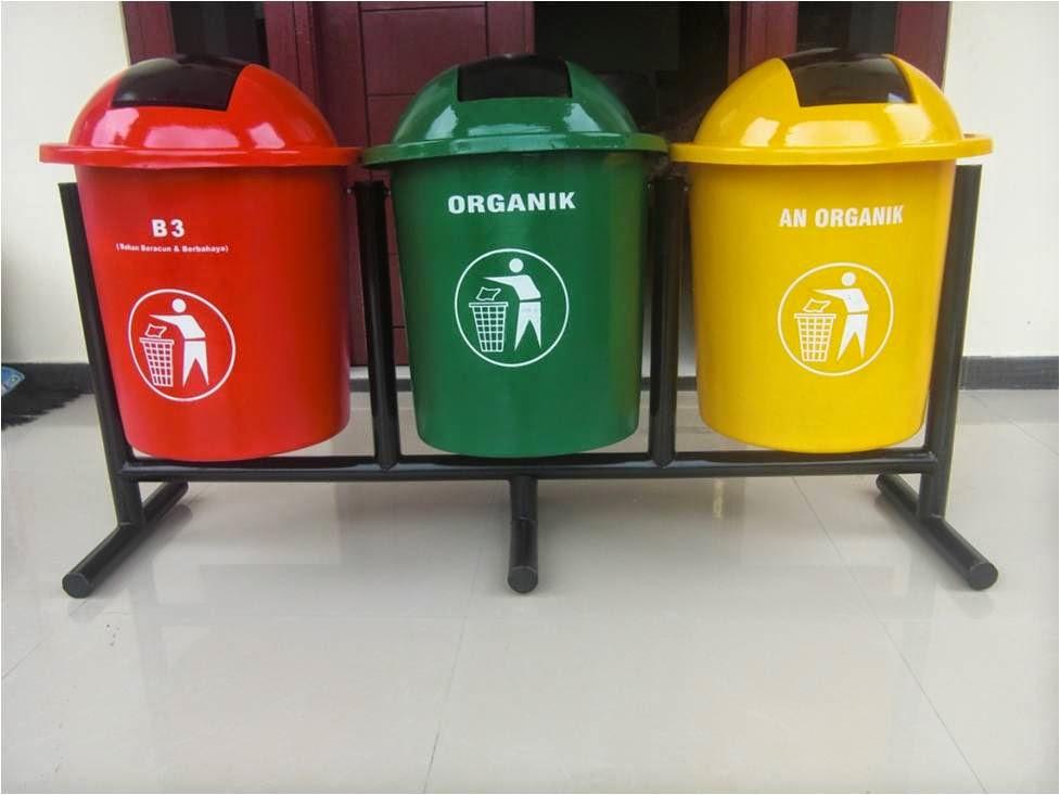 tong sampah sekolahan