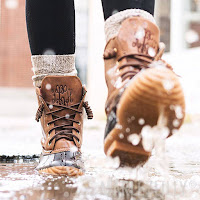 monogram duck boots in water