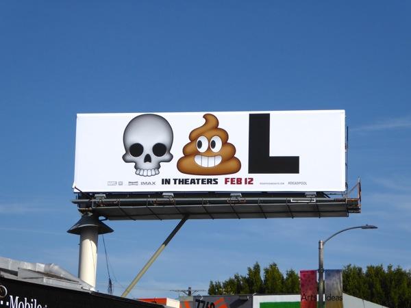Deadpool movie emoji billboard