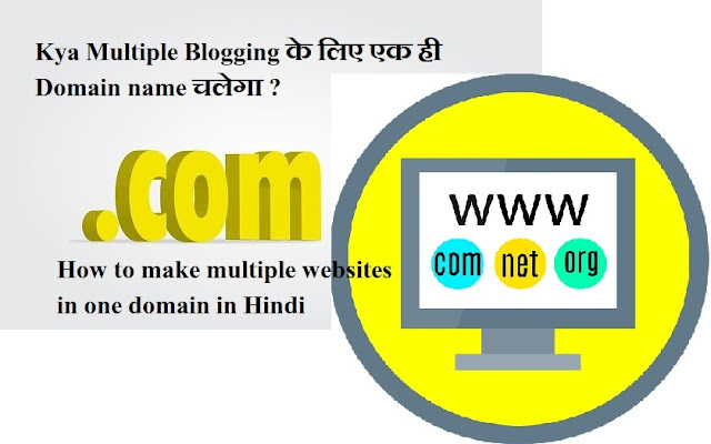 How to make multiple websites in one domain in Hindi