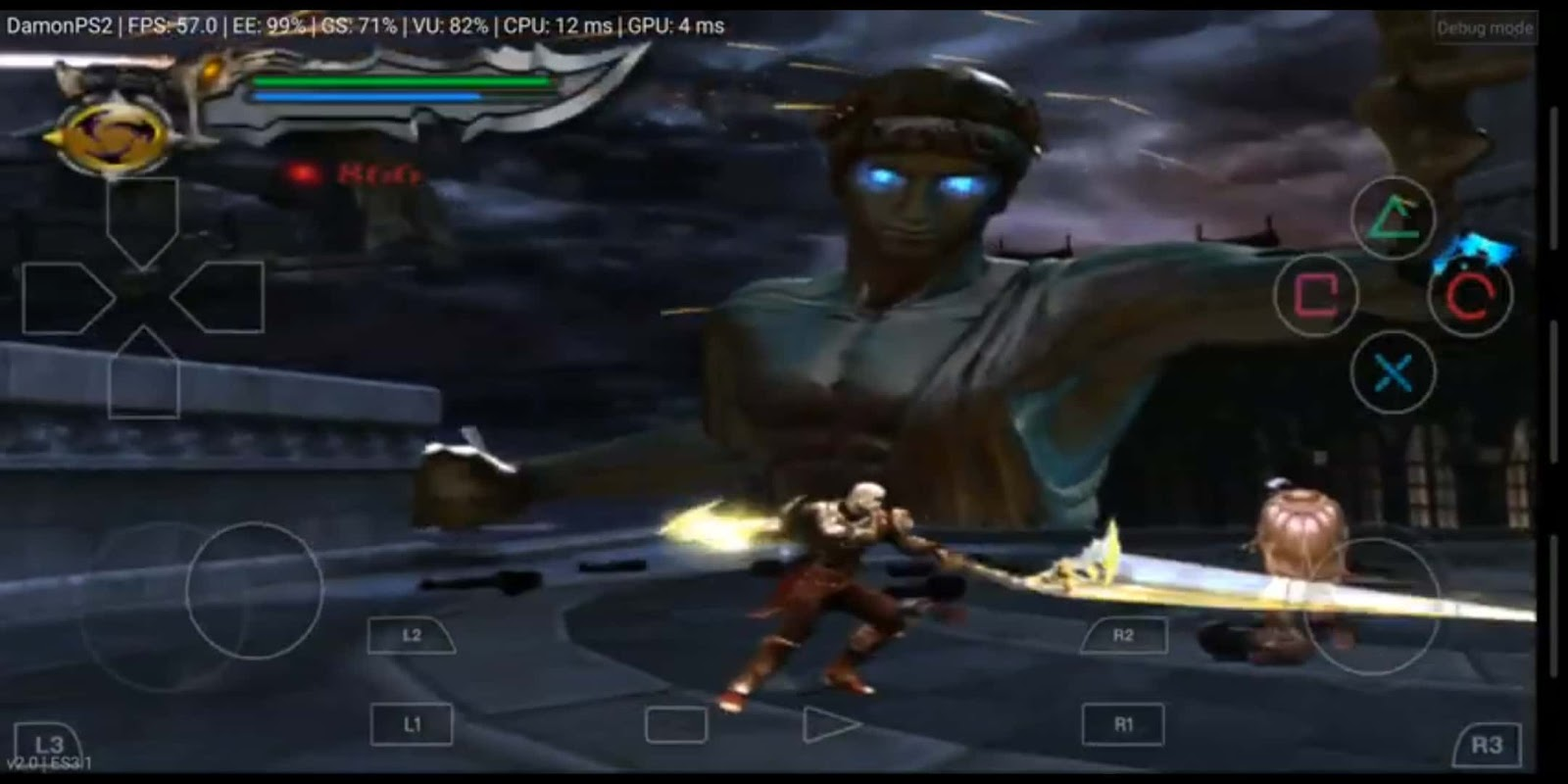 Damon ps2 emulator god of war 2