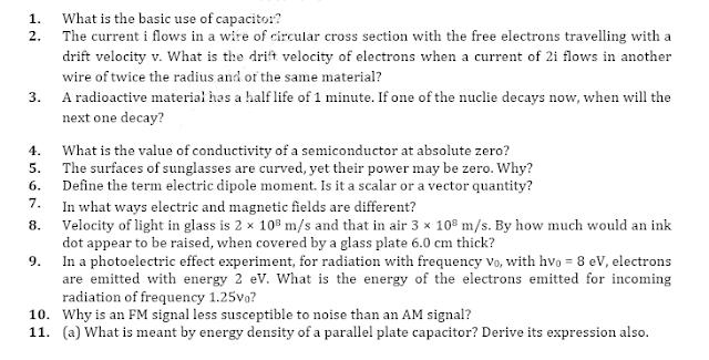 Model   paper class 12   physics