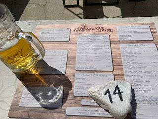 The menu at Rifugio Biella.