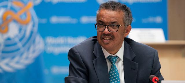 El director general de la Organización Mundial de la Salud, Tedros Adhanom Gebreyesus, durante la inauguración de la Asamblea Mundial de la Salud.ONU/Christopher Black