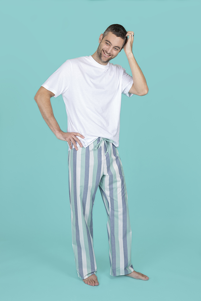 Joe pyjama bottoms menswear sewing pattern - Tilly and the Buttons