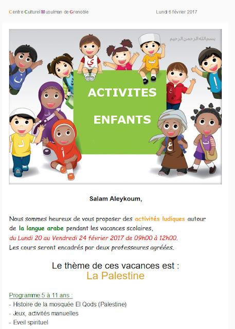 Activités enfants, centre culturel musulman de Grenoble