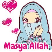 Sticker WA Hijab Muslim Islam Cantik WAStickerApps