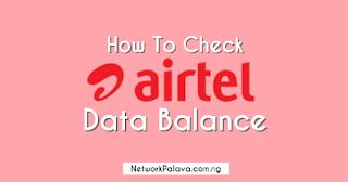 How To Check Airtel Data Balance