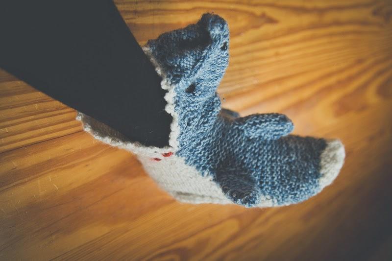Schleifchen M Haifisch Socken