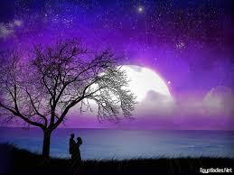 خلفيات مناظر طبيعية روعة قمر اليل