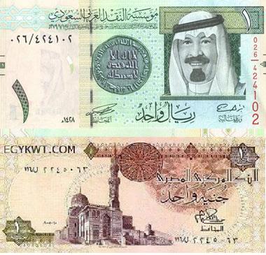 الريال السعودي يتراجع اما سعر صرفه مقابل الجنيه المصري