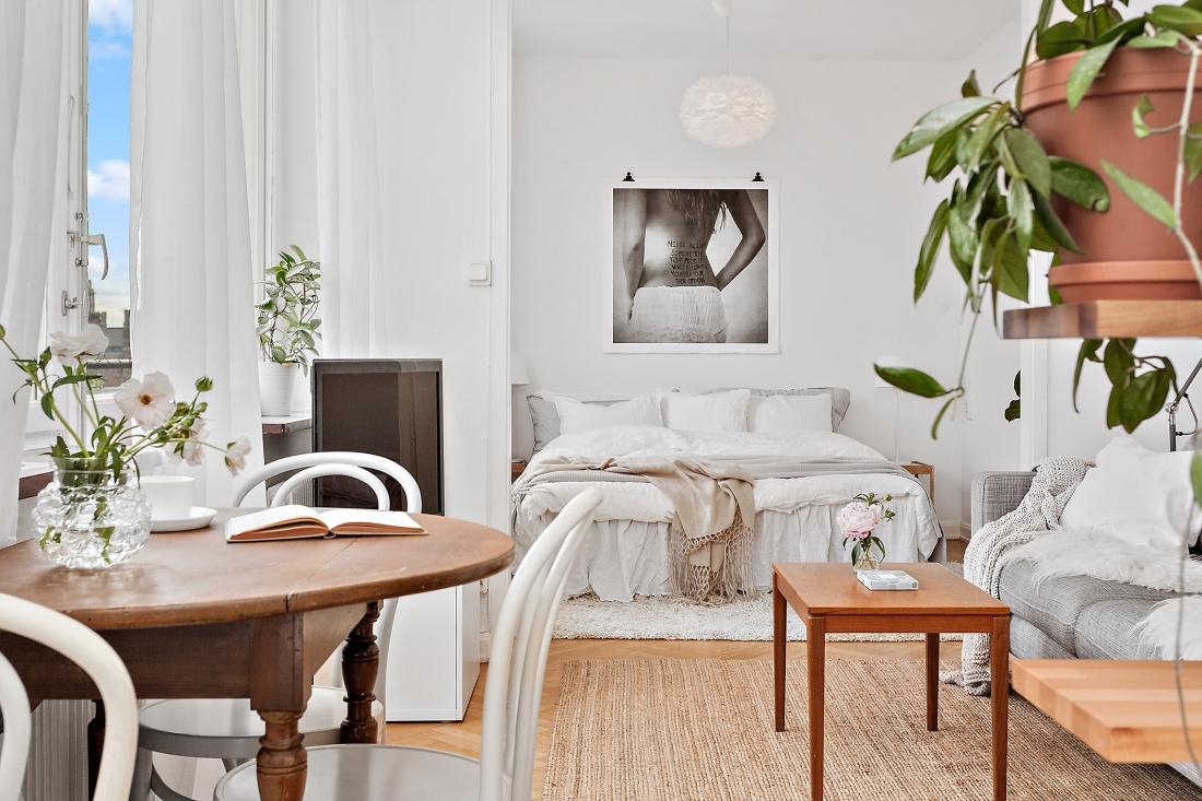 Amenajare delicată și feminină într-un apartament de numai 38 m²