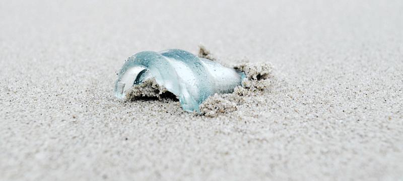 sea glass on the beach