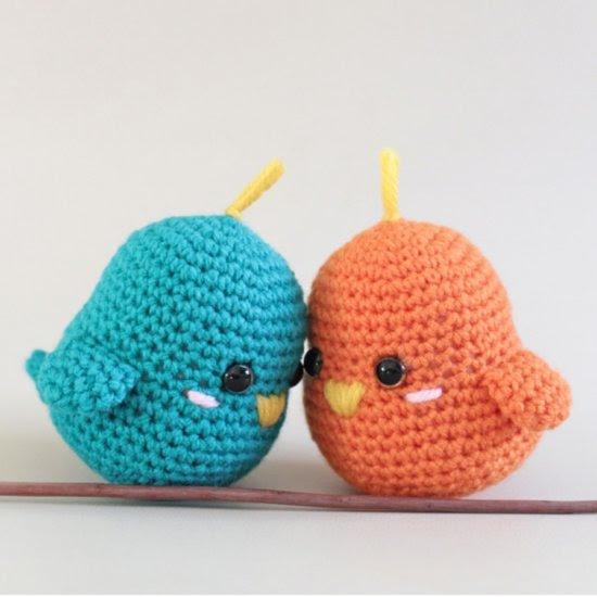 Amigurumi For Beginners Magazine : Crochet Amigurumi Lovebirds Craftbnb