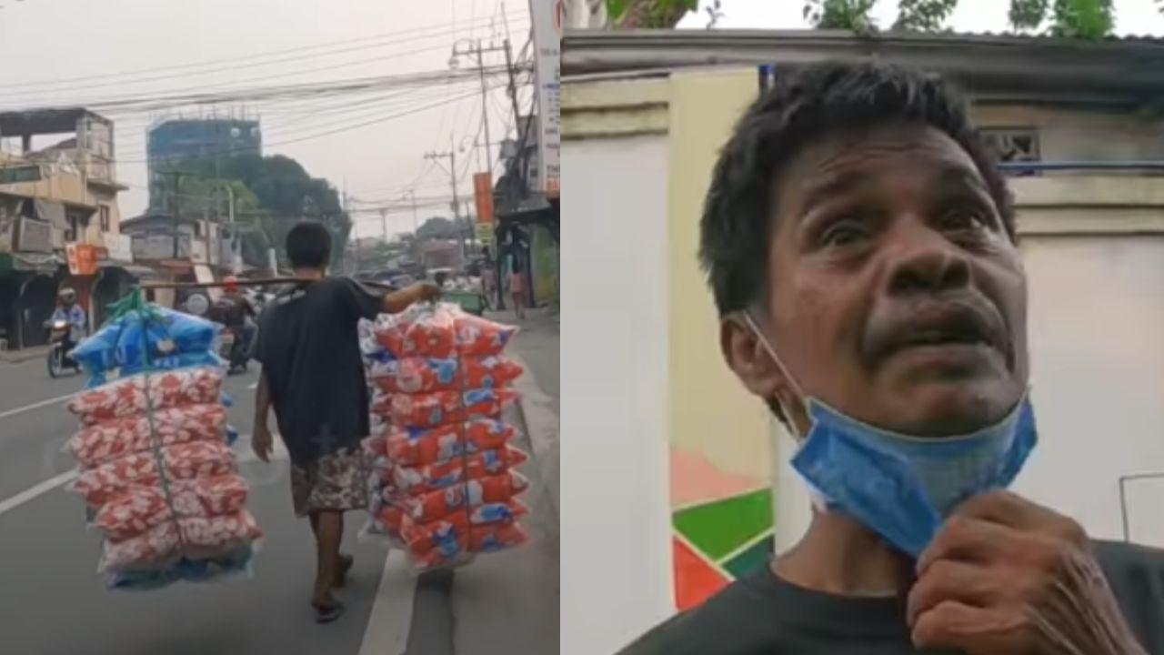 Isang Tindero Ng Unan Na Naglalakad Mula Rizal Hanggang Makati, Binigyan Ng Pamasko Ng Isang Netizen