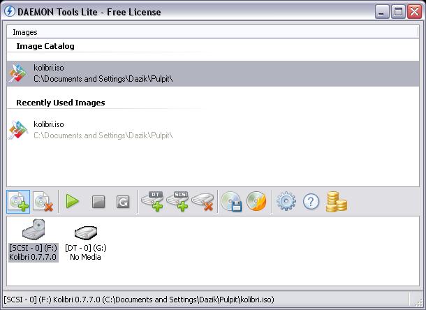 DominioTXT - Daemon Tools Lite Tela