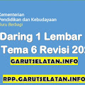 RPP Daring 1 Lembar SD/MI Kelas 3 Tema 6 Revisi 2021