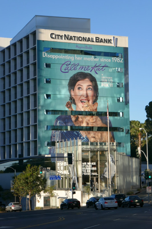 Giant Call Me Kat series launch billboard