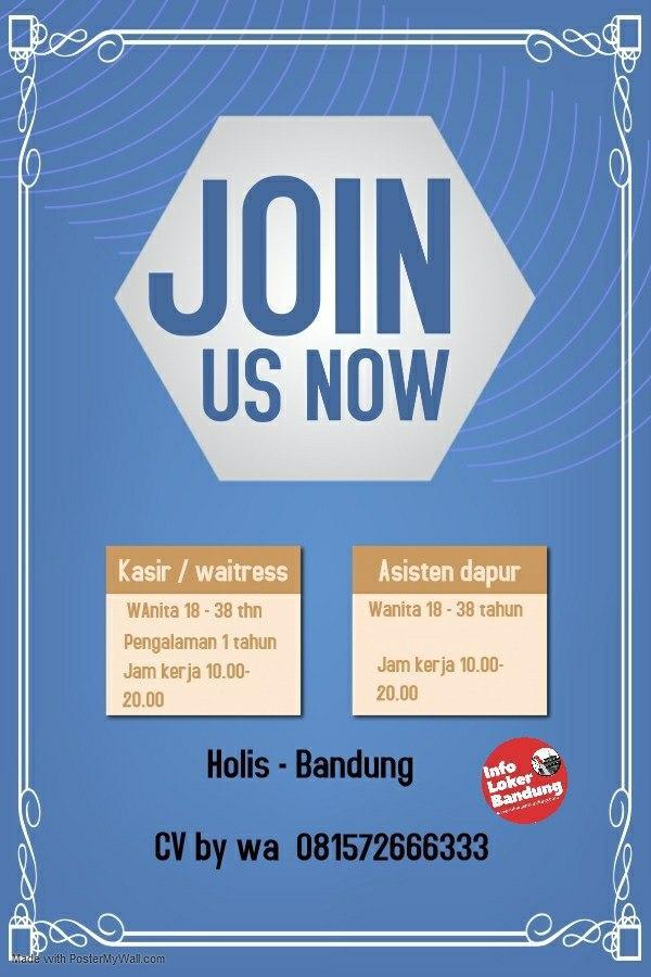 Lowongan Kerja Pelayan, Kasir & Asisten Dapur Restaurant Holis Bandung Januqri 2020