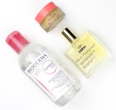 Bioderma Micellar Sensibio Nuxe Huile Prodigieuse Dry Oil Reve De Miel Lip Balm French Pharmacy Skincare