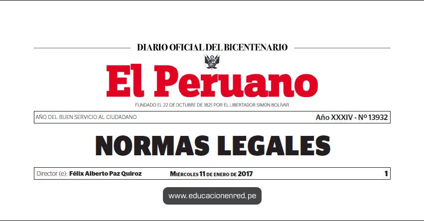 D. S. Nº 001-2017-EF - Dictan disposiciones reglamentarias para el otorgamiento de la Bonificación por Escolaridad - MEF - www.mef.gob.pe