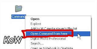 Open Command Prompt From Desired Folder
