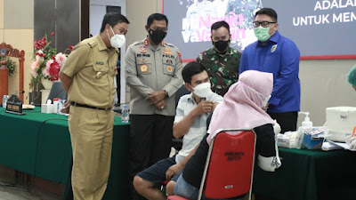 Vaksinasi Massal KNPI Sulut di Buka Wagub Kandouw
