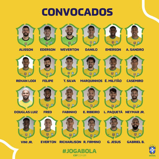 Equipo Brasil para Copa America