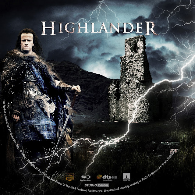 Highlander Bluray Label