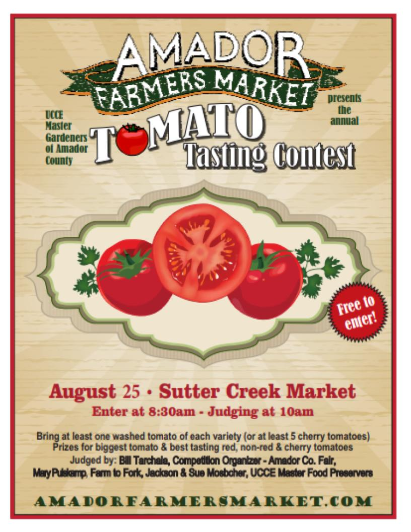 UCCE Master Gardeners' Annual Tomato Tasting Contest - Sat Aug 25