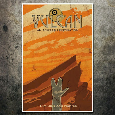 Vulcan travel poster by the Geekerie