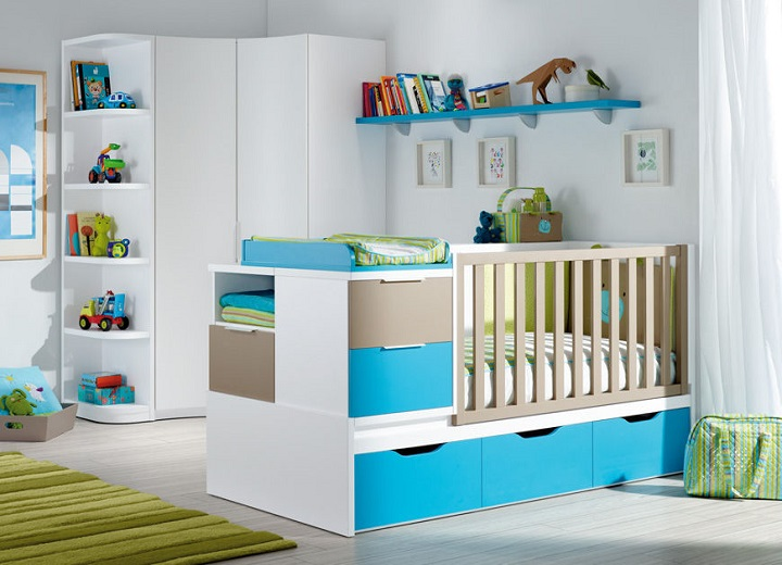 d co chambre bebe garcon bleu et vert. Black Bedroom Furniture Sets. Home Design Ideas