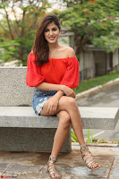 Rhea Chakraborty in Red Crop Top and Denim Shorts Spicy Pics ~  Exclusive 007.JPG