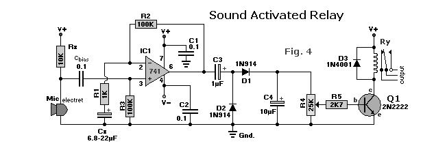 SOUND ACTIVATED RELAY Circuit The Circuit